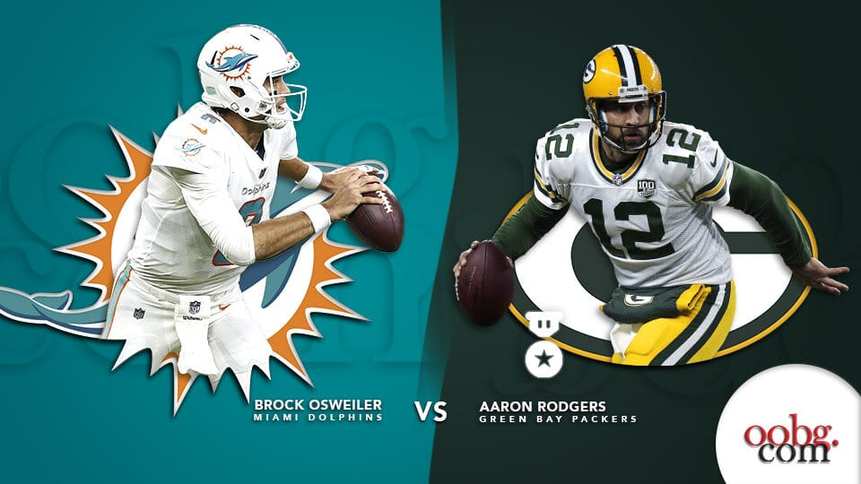 NFL Parlay Picks provided by YouWager Miami Dolphins vs. Green Bay Packers