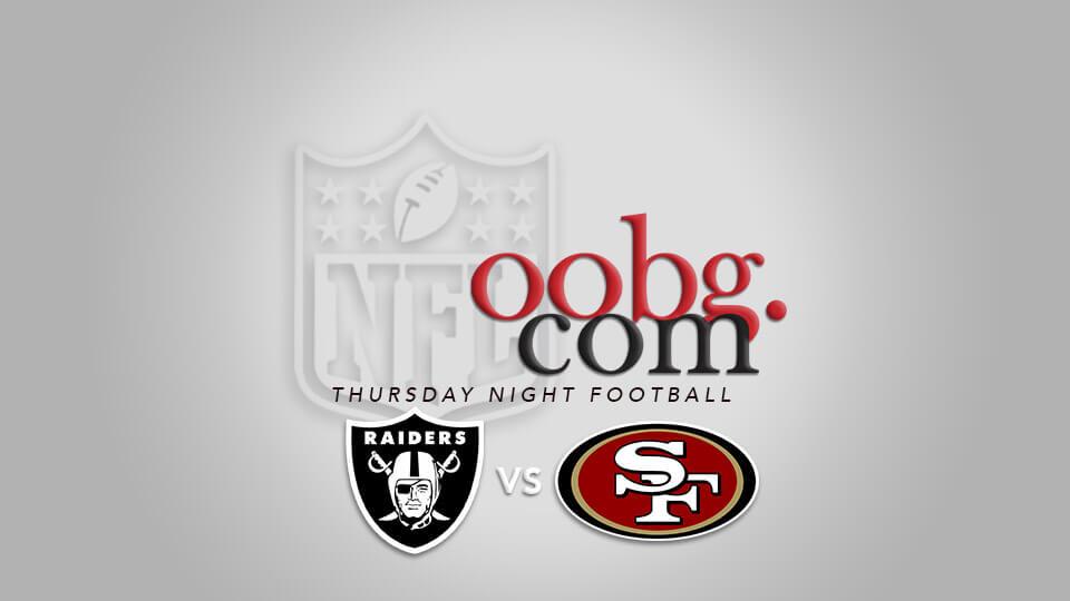 Thursday Night Football: Oakland Raiders at San Francisco 49ers